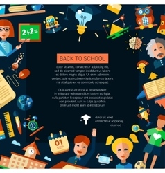 Flyer tempalte of school college flat design vector