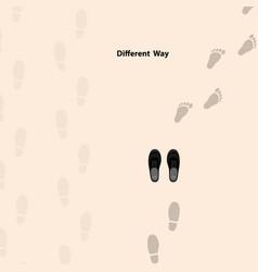 Footprints icon design templatedifferent vector