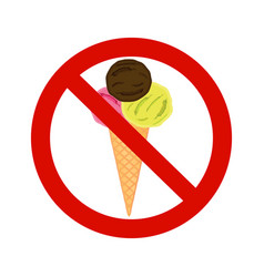 forbidding signs no ice-cream vector image