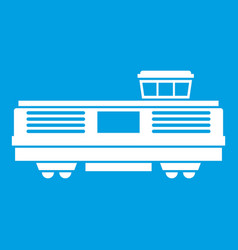 Freight train icon white vector