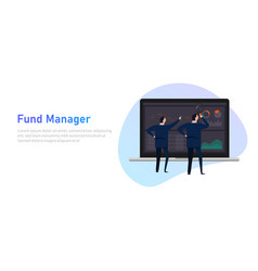 fund manager employee or institution such as a vector image