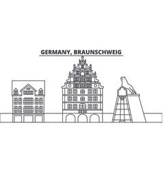germany braunschweig line skyline vector image