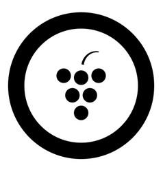 grape icon black color in circle vector image