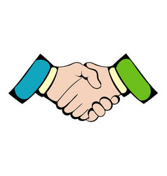 handshake icon icon cartoon vector image