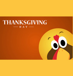 Happy thanksgiving day with turkey background vector