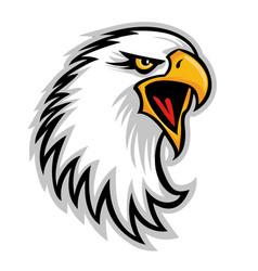 hawk eagle head usa logo mascot 03 vector image