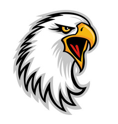 Hawk eagle head usa logo mascot 03 vector