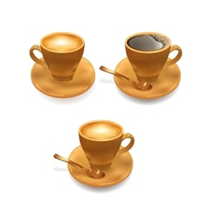 Ice Cream And Cup of Coffee vector image