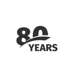 Isolated abstract black 80th anniversary logo on vector