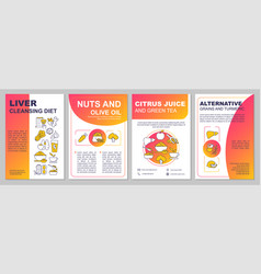 Liver cleansing diet brochure template vector