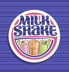 logo for milk shake vector image