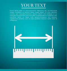 measuring height and length ruler straightedge vector image