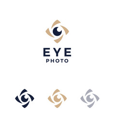 modern professional logo photos eyes on white vector image