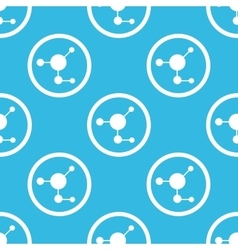 Molecule sign blue pattern vector image