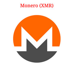 monero xmr logo vector image