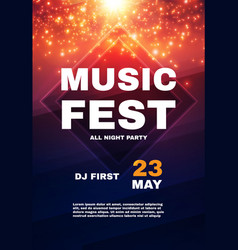music fest poster template show exhibition vector image