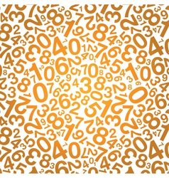 Orange number background vector