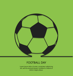 outline soccer ball background football day eps 1 vector image