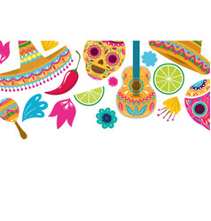 Pattern celebration cinco de mayo vector