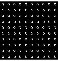 Pattern drops monochrome minimalistic shapes vector