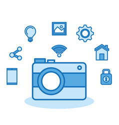 Photographic camera internet digital media vector