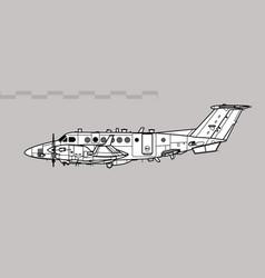 Raytheon shadow r1 beechcraft super king air vector