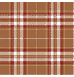 Red and tan tartan plaid scottish pattern vector