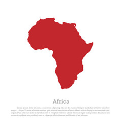 Red silhouette continent africa vector