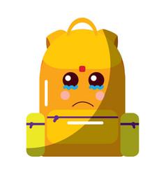School backpack kawaii cartoon character vector