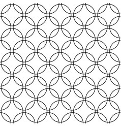 Seamless abstract black and white circle grid vector