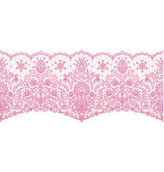 seamless pink lace vector image