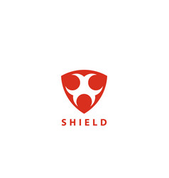 security shield logo design template vector image