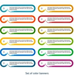 Set of banners horizontal effect it brush paint vector