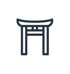 Shinto icon shinto editable stroke shinto linear vector