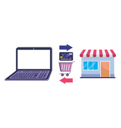 shopping online icon design vector image