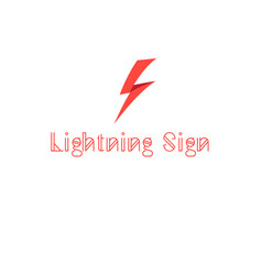 sign lightning vector image