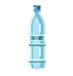 simple small plastic water bottle isolated on vector image