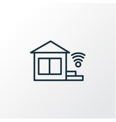 smart home icon line symbol premium quality vector image
