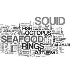 Squid word cloud concept vector