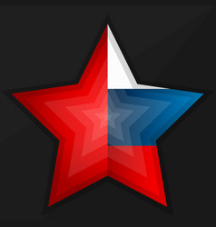 Star with flag vector