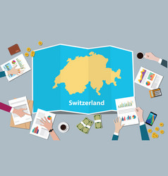 switzerland economy country growth nation team vector image