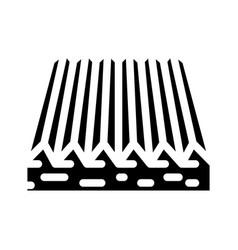 Tactile flooring glyph icon vector