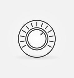 volume control concept round line icon vector image
