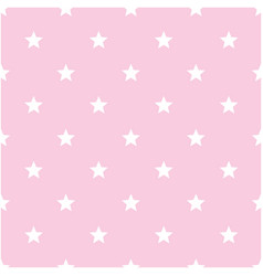 white stars pattern pink background image vector image