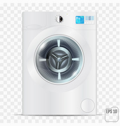 White washing machine isolated on a transparent vector