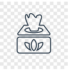 Wipes concept linear icon isolated on transparent vector