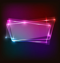 abstract neon background with colorful banner vector image vector image