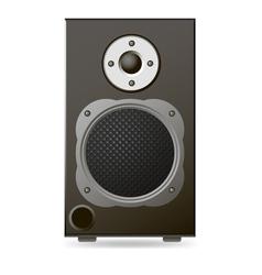 Black Audio Speaker vector image vector image