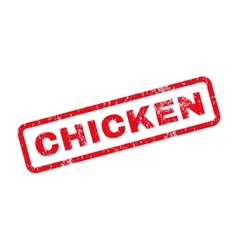 Chicken Text Rubber Stamp vector image
