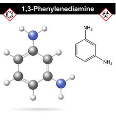 meta phenylenediamine moelcular structure vector image